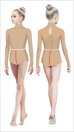 How to take measurements to sew rhythmic gymnastics leotard. Lana ateler.